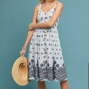 Anthropologie Maeve Savoy Button Down Dress